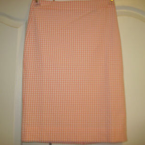 NWT Pink No 2 Pencil Skirt in Gingham J.CREW Sz 00